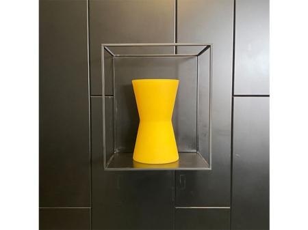 Danjouboda-Vase-jaune-mat