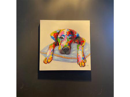 Danjouboda-tableau-chien-colore