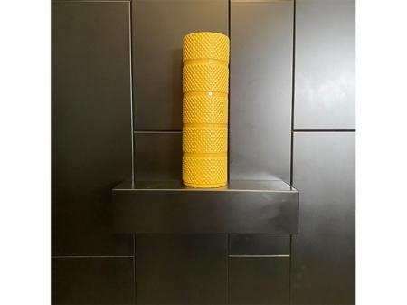 Danjouboda-vase-avec-motif-en-relief-jaune