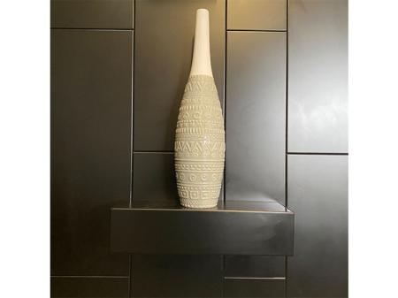 Danjouboda-vase-motif-azteque-gris-clair-et-gris-fonce