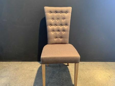 chaise-capitonné-marron-bois-danjouboda